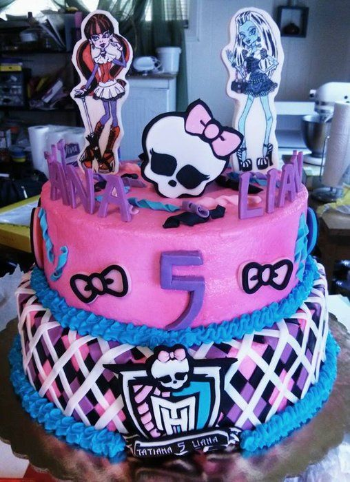 Monster High Birthday Cake For Twins My Enchantingly Sweet Treats
