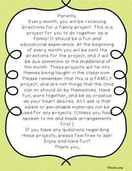 Fall Family Project Freebie Fall Family Beginning Of School