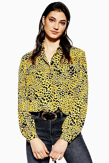 2202bb4dc186a Womens Abstract Animal Shirt - Mustard in 2019