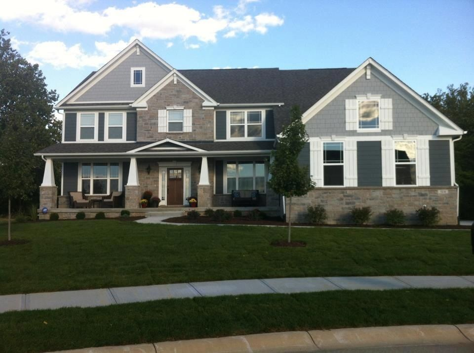 Exterior Paint Colors Grey would switch the colors. lighter on house, darker on gables