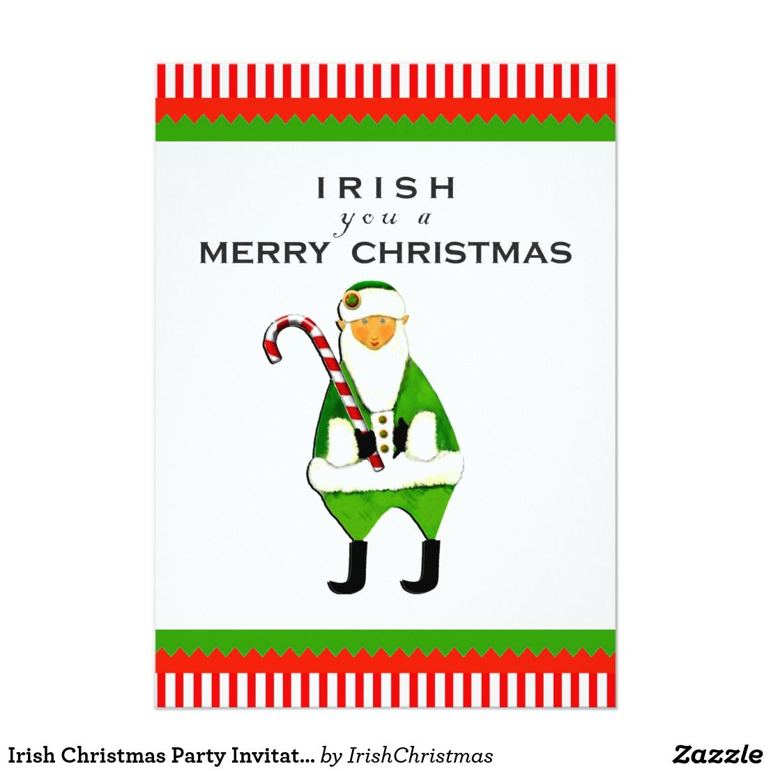 Irish Christmas Party Invitations | Christmas Party Invitations ...
