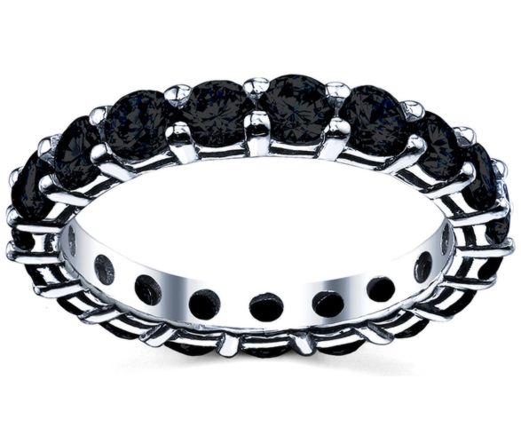 200cttw Black Diamond Eternity Ring Perfect For A Unique Wedding Band Or Memorable
