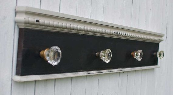 Antique Glass Door Knob Coat Rack On Reclaimed By RustyTinRoof