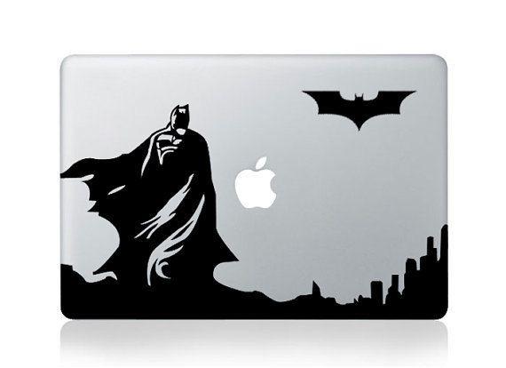 Batman Black vinyl decal sticker Apple Macbook Pro Air iPhone iPad Free Ship
