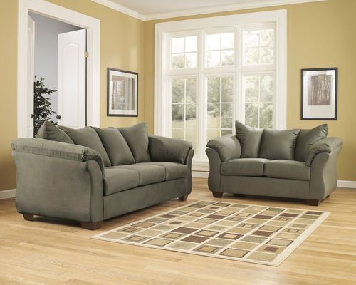 Best Ashley Darcy Sage Sofa Loveseat Cheap Living Room Sets 400 x 300