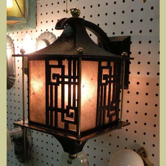 Asian Inspired lighting, looks so ancient, I love it!