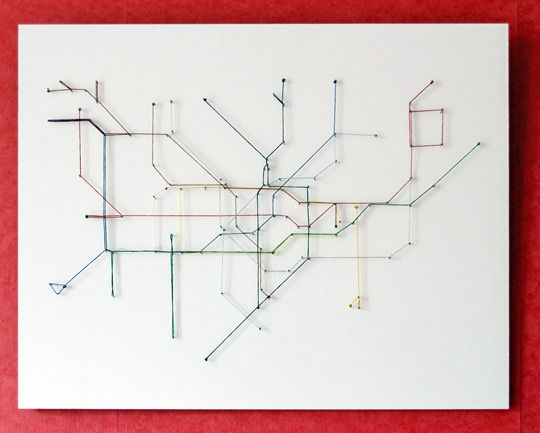 London Underground map made with string - I'm sure I can do Vancouver!