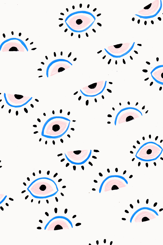 eyes painterly pattern [ 2000 x 3000 Pixel ]