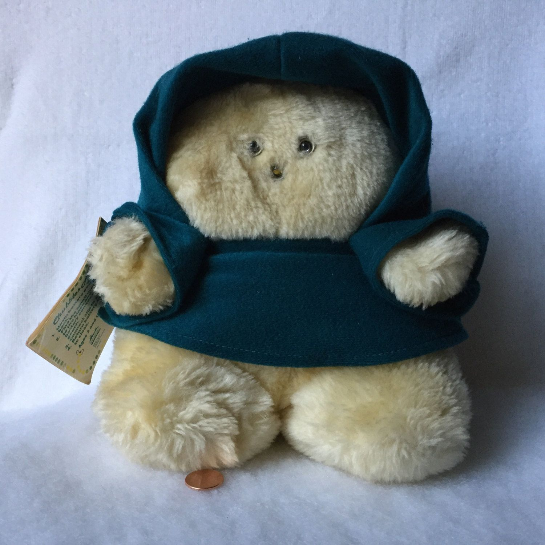 Vintage Chubbles Plush Bear Ewok Animal Fair Stuffed Animal Blue