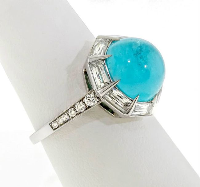 AGTA Spectrum Awards 2015 Best of Show - paraiba tourmaline and diamond ring by Leon Mege