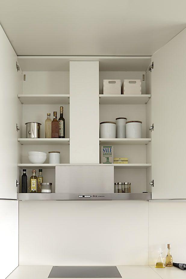 Campana oculta DICA Pinterest Cocinas, Cocina moderna y - cocinas pequeas minimalistas