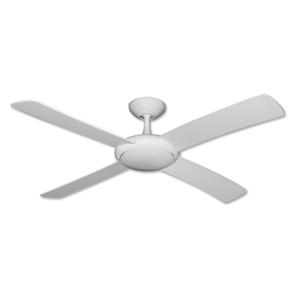Modern White Ceiling Fan No Light