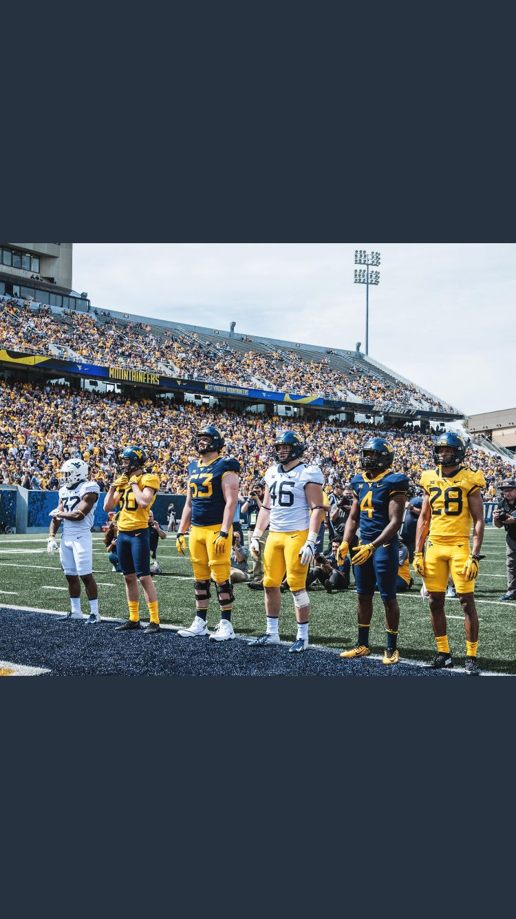 Pin by Bread on Sports West virginia, Football uniforms