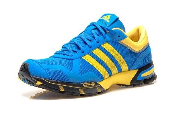 Adidas Marathon 10 Blue Yellow Red Silver Sneakernews Com Mens Trail Running Shoes Sneakers Men Fashion Adidas