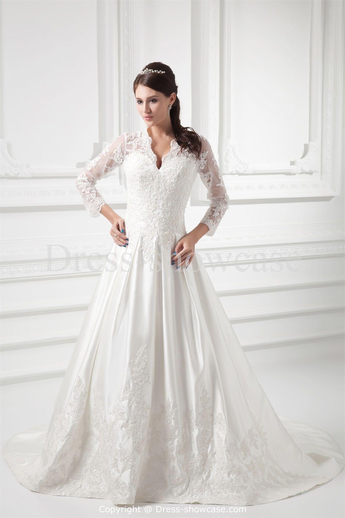 3 4 sleeve wedding gowns weddingdress pinterest wedding
