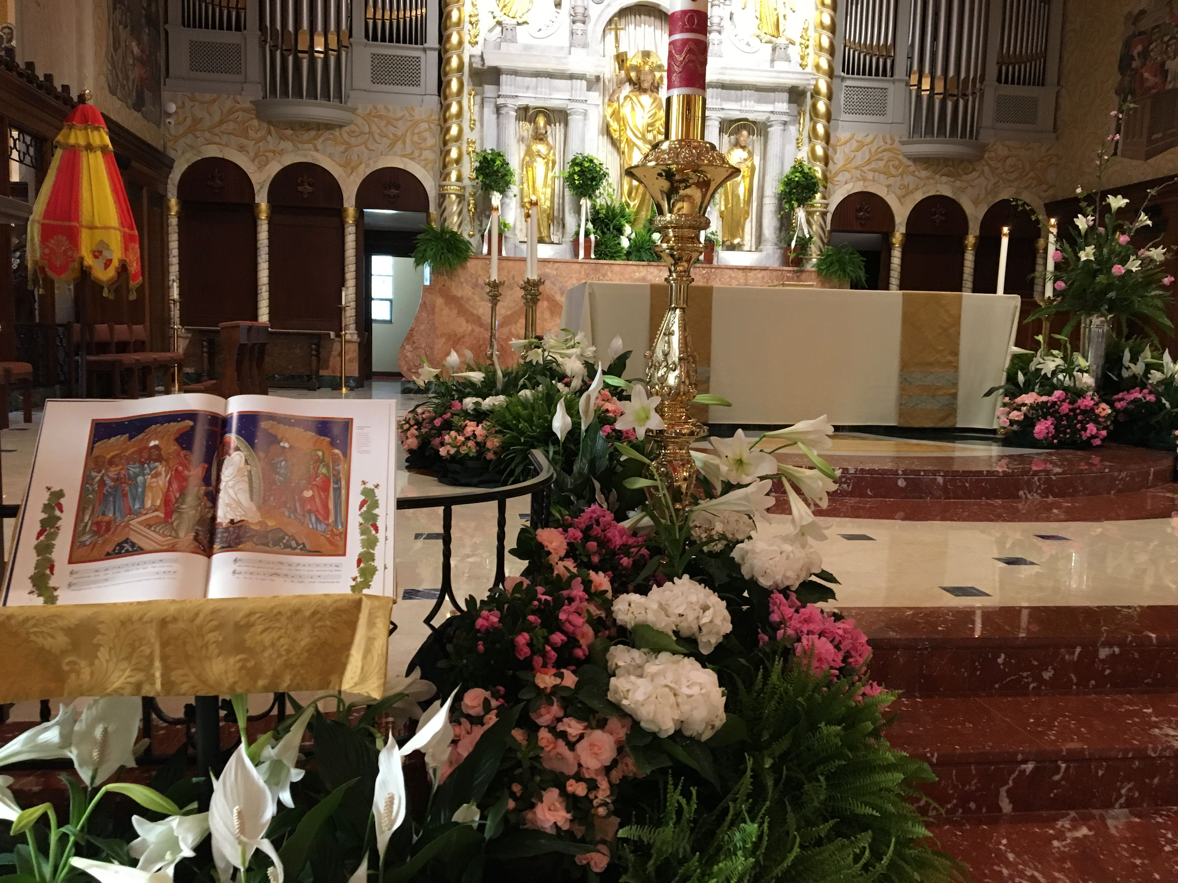 The alter on Easter Sunday