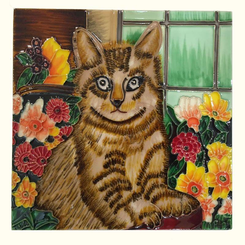 Decorative Cat Tiles U2013 Kitty In Garden