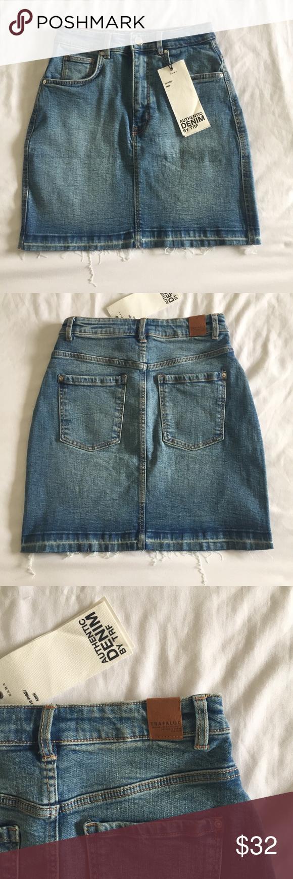 bcdde5b556d5 NWT ZARA trafaluc high rise denim mini skirt authentic denim mini skirt by  zara! denim is great quality, has some stretch Zara Skirts Mini