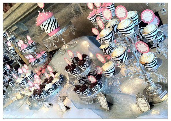 Hot Pink & Zebra Print Cupcakes