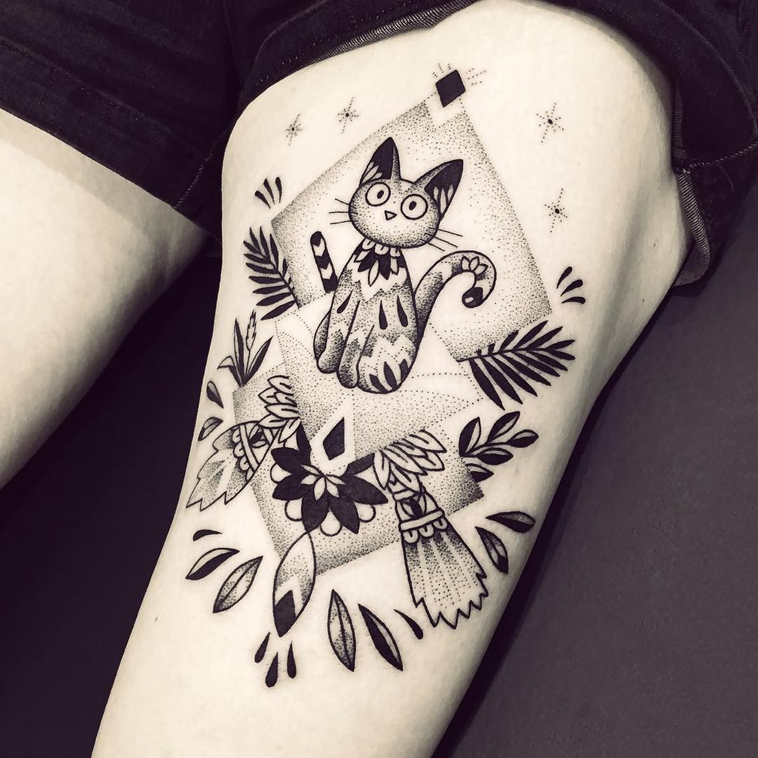 Jiji de kiki la petite sorci re un grand merci samantha for Kiki tattoo artist