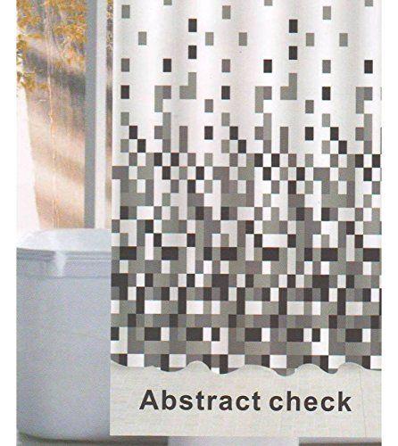 Linenwalas Abstract Check Design Water Repellent Bathroom