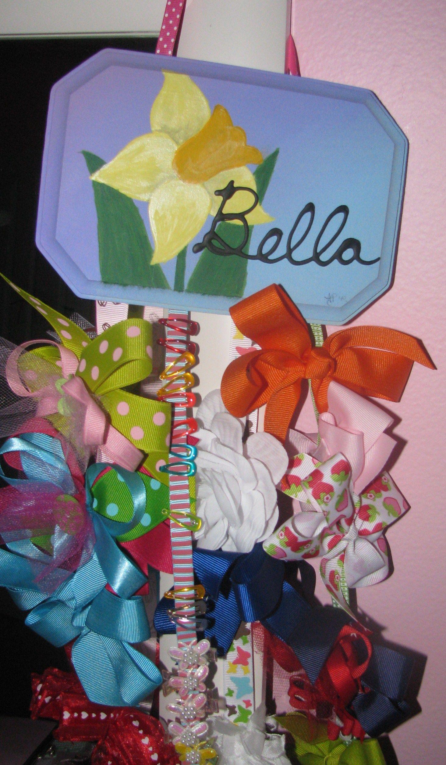 birth flower hair clip holder