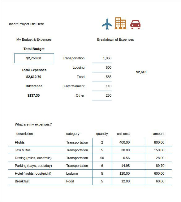 Travel Budget Template Excel   Travel Budget Template  Why