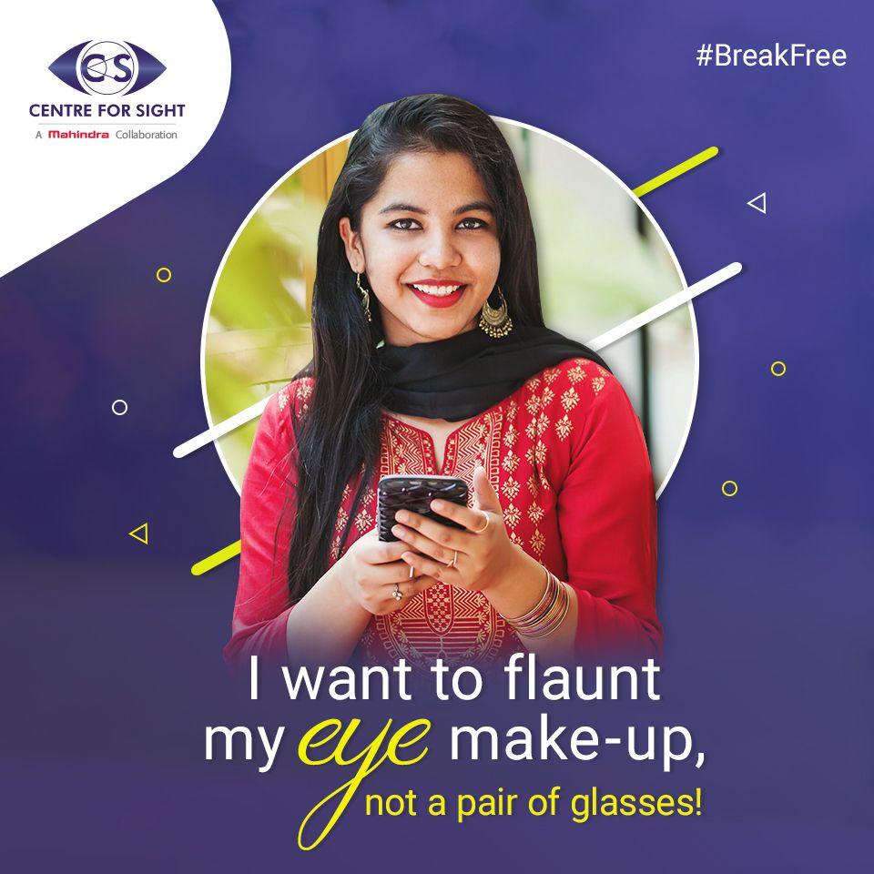 Wearing contact lens always gave Priyanka irritation and