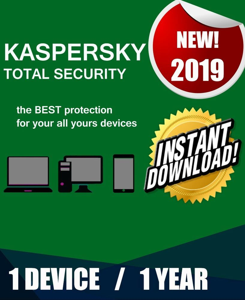 KASPERSKY TOTAL SECURITY 2019 1 PC DEVICE 1 YEAR BEST ANTIVIRUS