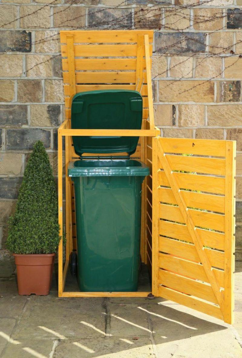 Bezaubernd Mülltonnenbox Aus Paletten Bauen Galerie Von