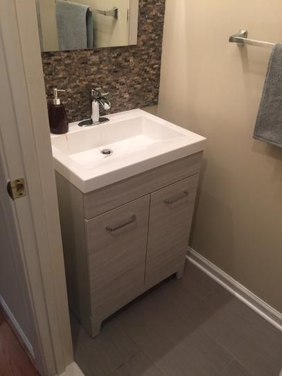 Glacier Bay Woodbrook 30 1 2 In W Bath Vanity In White Washed Oak