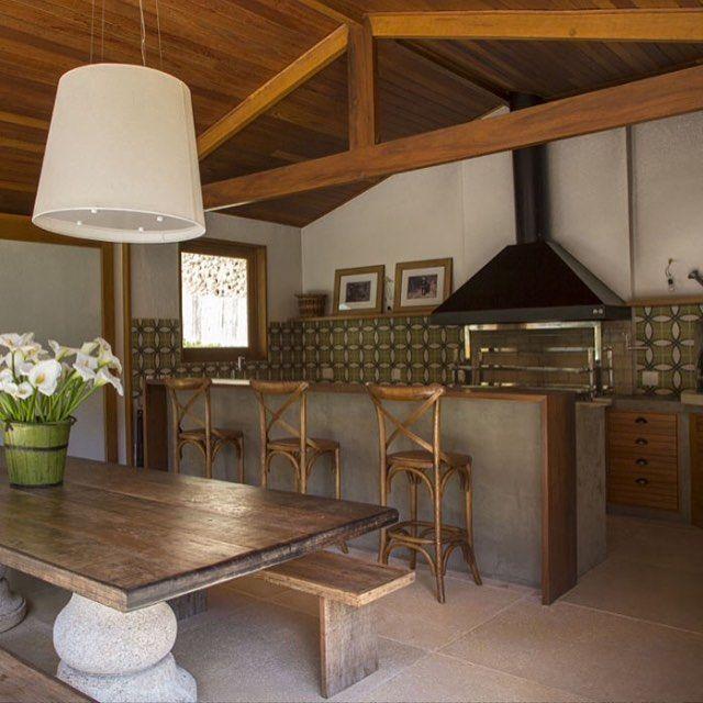 area de lazer area gourmet com churrasqueira forno pia em l - Pesquisa ...