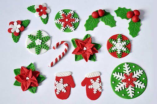 Cukrovekvety / Vianočný set na muffiny (14 diel. sada)