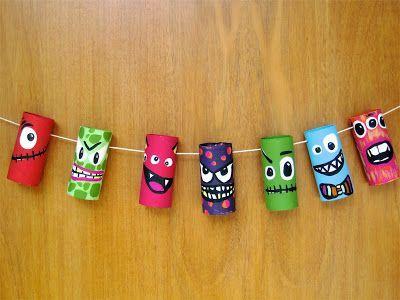Nuestro mundo creativo monstruos con rollos de cart n for Bricolage creativo