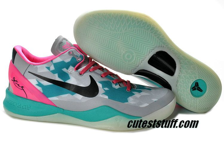 16764d79da48 Basketball Shoes Kobe 8 Elite South Beach Wolf Grey Pink Cherry Tiffany  Blue 555035 110
