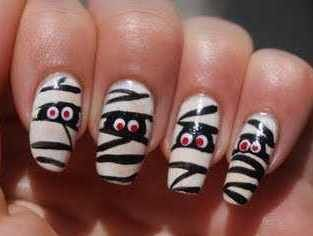 toenail art designs simple easy halloween nail designs loveable nails - Easy Halloween Designs For Nails