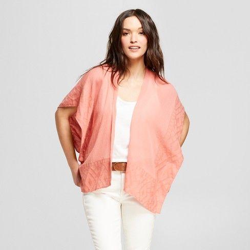 13c59d41de2 Women s Jacquard Ruana Kimono Jackets - Universal Thread™   Target ...
