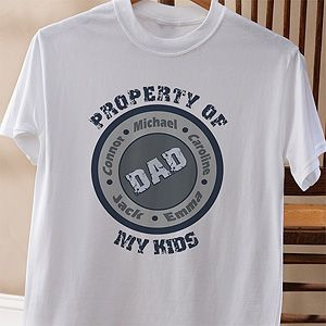 c4b2bcae6 Property of My Kids Personalized Hanes® Adult T Shirt | Gift Ideas ...