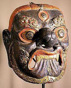 MASKS OF TEBET | Mahakala Mask, Tibet, 18/19th C. (item #558101)