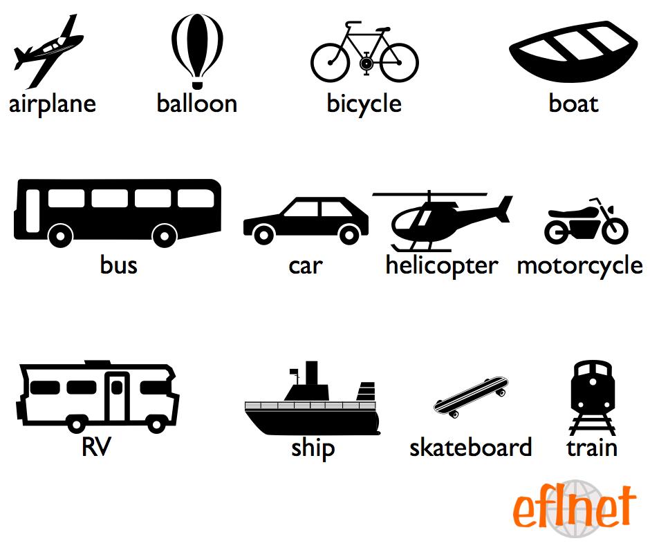 Transportation - Worksheets   EFLnet   EFL/ESL Vocabulary ...