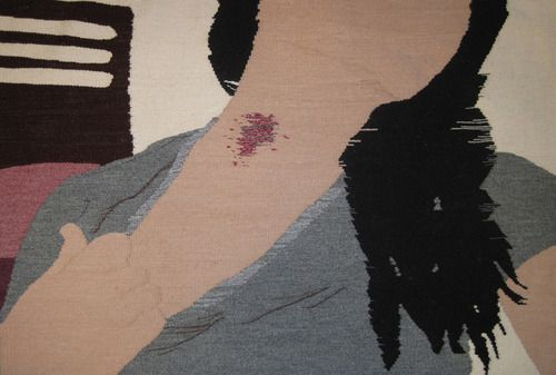 Artist Erin Riley weaves nudes tapestries that reflect on