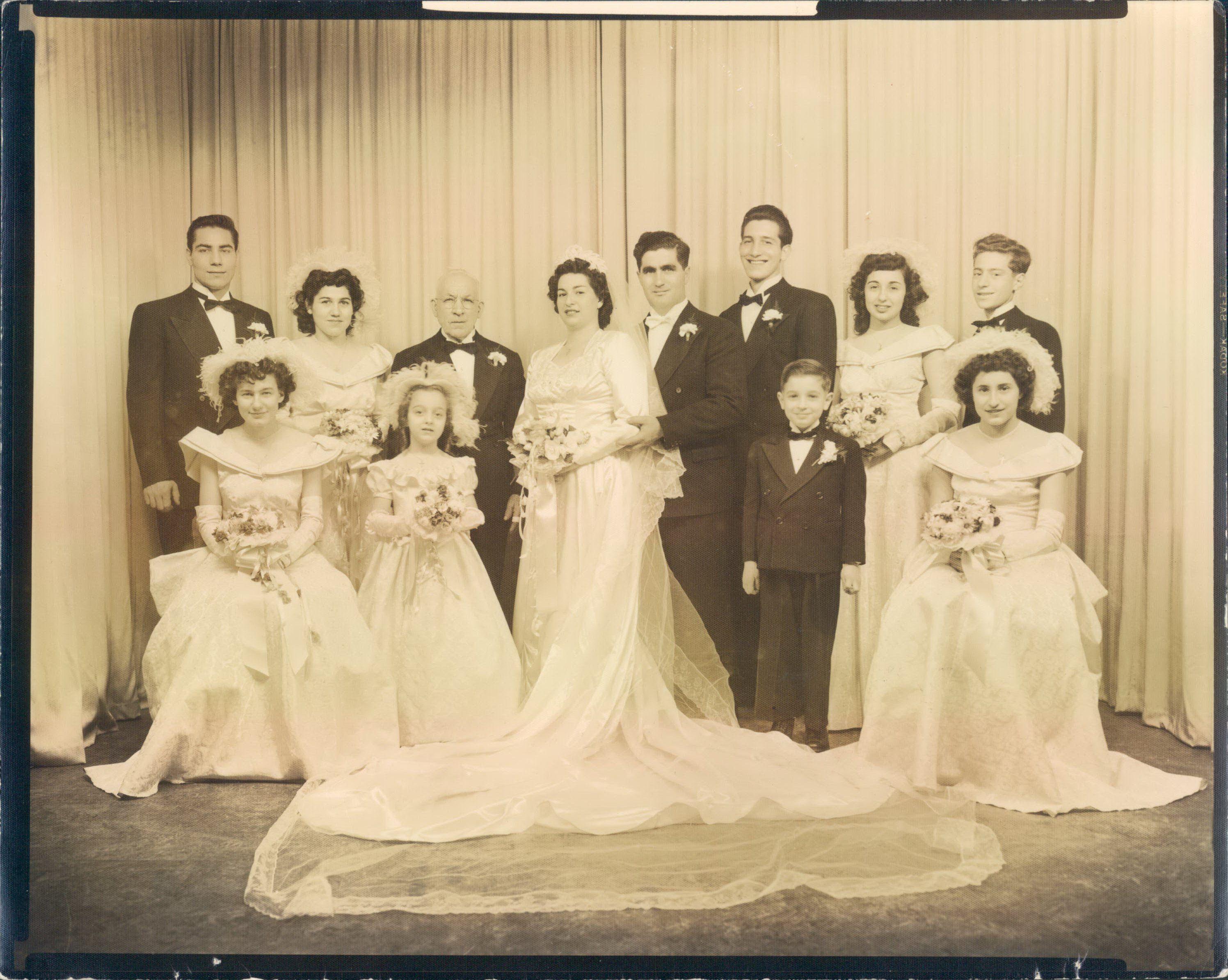My Grandparents Wedding 1940s New Jersey 1st Generation