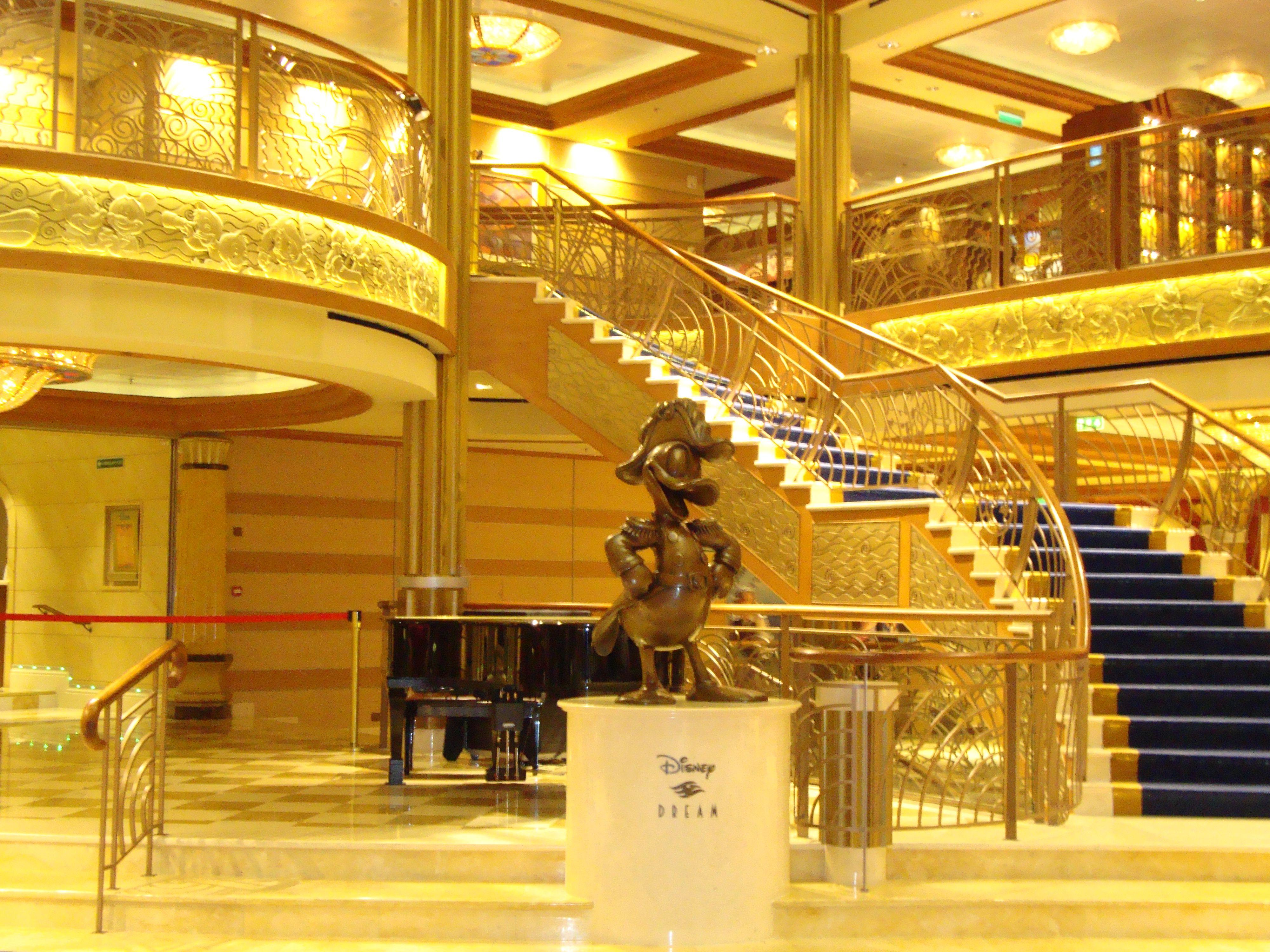 Disney Dream Atrium. CruiseWeddings WeddingsAtSea