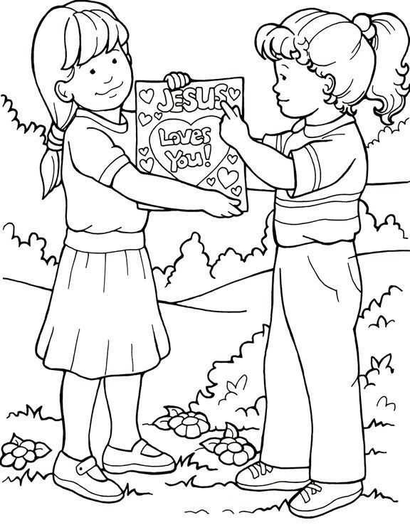 Jesus Loves You Coloring Page Sunday School Sunday School