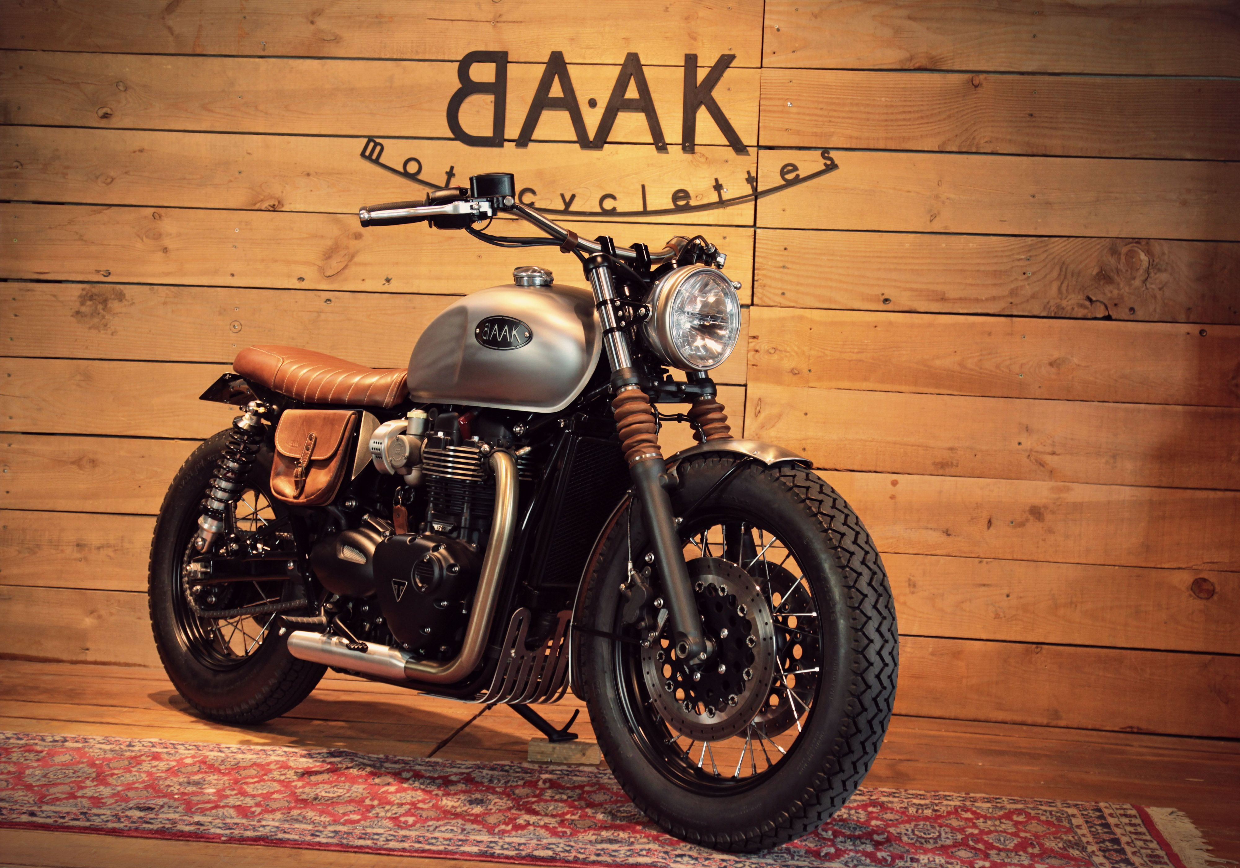 Custom 2017 Triumph Bonneville T120 Created By Baak Motocyclettes
