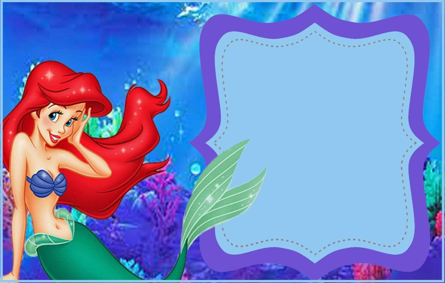 Free Printable Little Mermaid Invitation Template