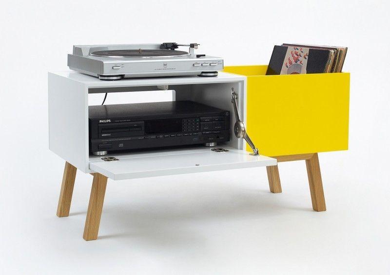 44 Meubles Pour Ranger Des Vinyles Avec Images Meuble Hifi Mobilier De Salon Meuble Vinyle