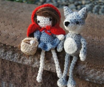 Patrón Caperucita Roja y el lobo ~ Susigurumi