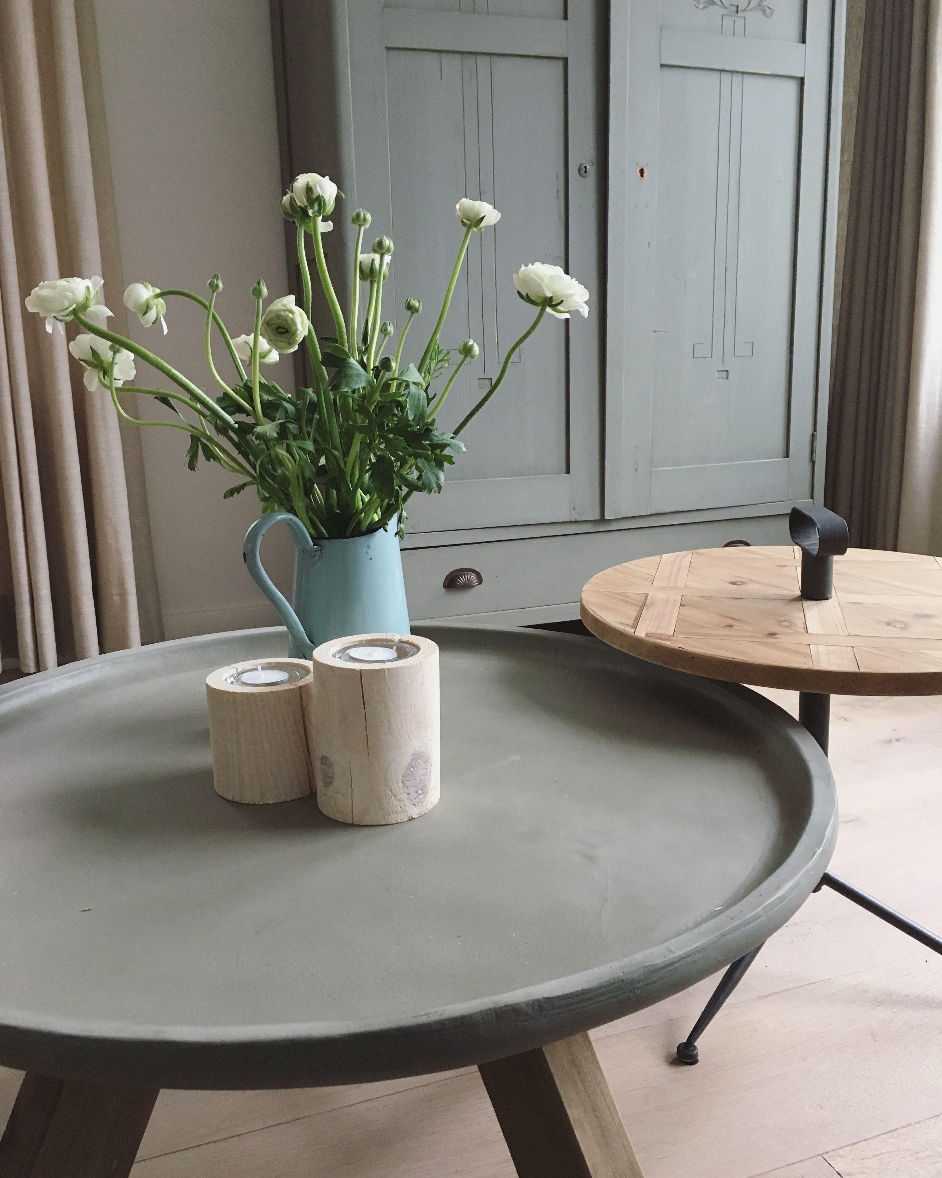 Ronde salontafel bijzettafel scandinavisch interieur for Salontafel rond design