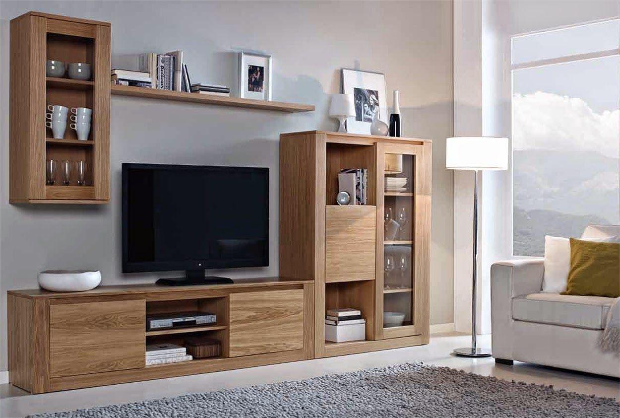 Muebles de sal n 5 composiciones modulares de madera para for Disenos de modulares para living